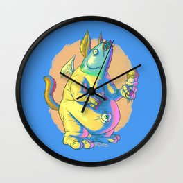 Glarglarac Sure Does Love His Ice Cream Wall Clock