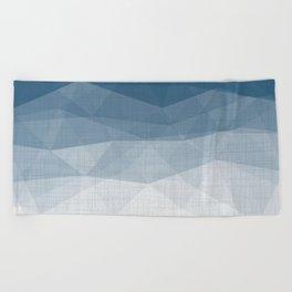 Imperial Topaz - Geometric Triangles Minimalism Beach Towel