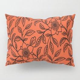 Vintage Lace Floral Flame Pillow Sham