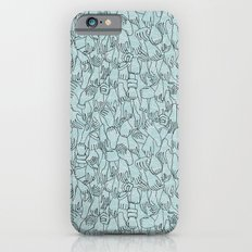 A Plethora of Relaxed Hands in Blue Slim Case iPhone 6s