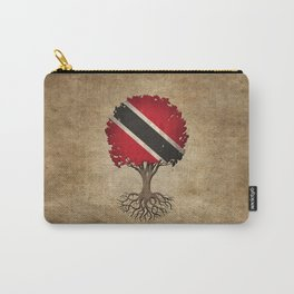 Vintage Tree of Life with Flag of Trinidad and Tobago Carry-All Pouch