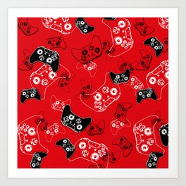 Video Game Red Art Print