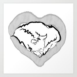 Cat Heart Art Print