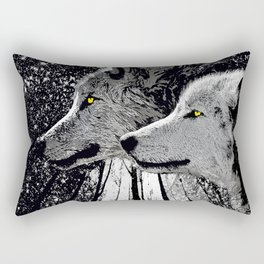 WOLF OF THE NIGHT FOREST Rectangular Pillow