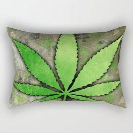 Weed Leaf Rectangular Pillow