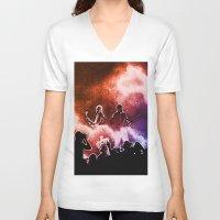 u2 V-neck T-shirts featuring U2 / Adam Clayton / The Edge by JR van Kampen