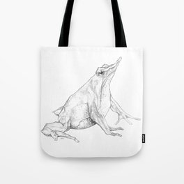 Rhinoderma rufum (Northern Darwin's frog) Tote Bag