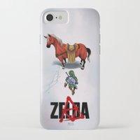 akira iPhone & iPod Cases featuring Zelda/Akira by Henrique Jardim
