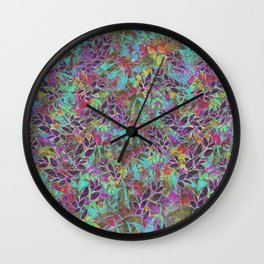 Grunge Art Floral Abstract G124 Wall Clock
