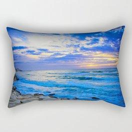 Tel Aviv Beach Sunset Rectangular Pillow
