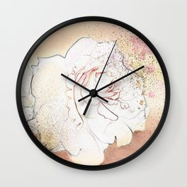 A white rose for you Wall Clock