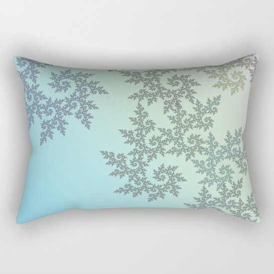 Curly frost patterns on a pastel background Rectangular Pillow