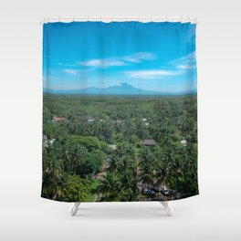 The Palm Jungle Shower Curtain