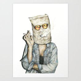 Brown Baggin' It Art Print