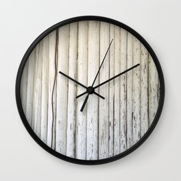 Wire on Wood Wall Clock