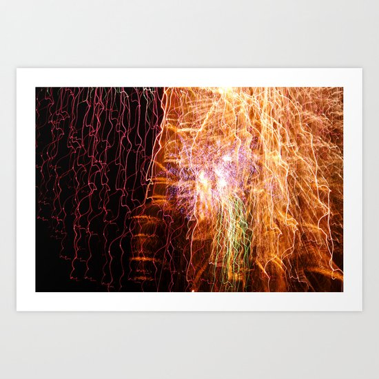 Waterfall of light Art Print