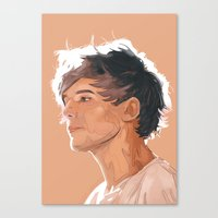 louis tomlinson Canvas Prints featuring Louis Tomlinson  by Danny Spikes