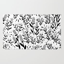 hand draw floral pattern Rug