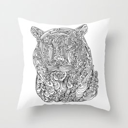 The power of the tiger Throw Pillow