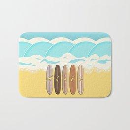 Aloha Surf Wave Beach Bath Mat