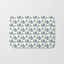 Watercolour blueberry pattern #s1 Bath Mat