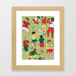 Tennis Boys Framed Art Print