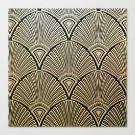 Golden Art Deco pattern Canvas Print