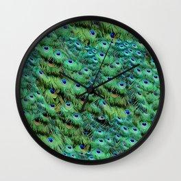 Peacock Feather Waterfall Wall Clock