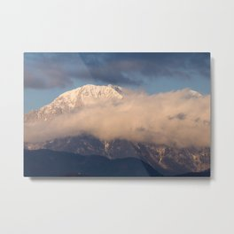 In the shadow of the mountain peak Metal Print