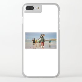 Back fishing day Clear iPhone Case