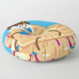Waffles and Ice Cream Floor Pillow