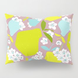 Pears + Pear Blossoms Pillow Sham