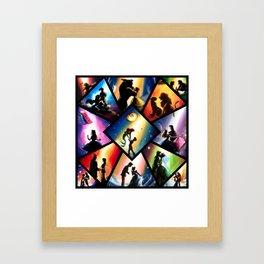 Magical silhouettes Framed Art Print
