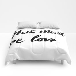 This Must Be Love (White) Comforters