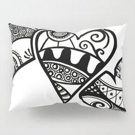 Three Hearts Pillow Sham