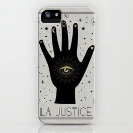 La Justice or The Justice Tarot iPhone Case