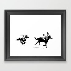 Sumos at the Races Framed Art Print
