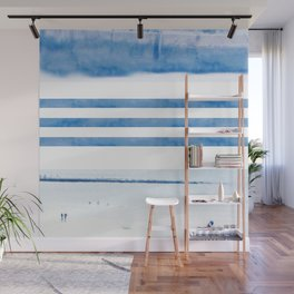 nautical stripes: blue Wall Mural
