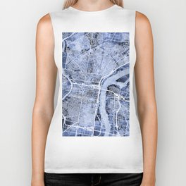 Philadelphia Pennsylvania City Street Map Biker Tank