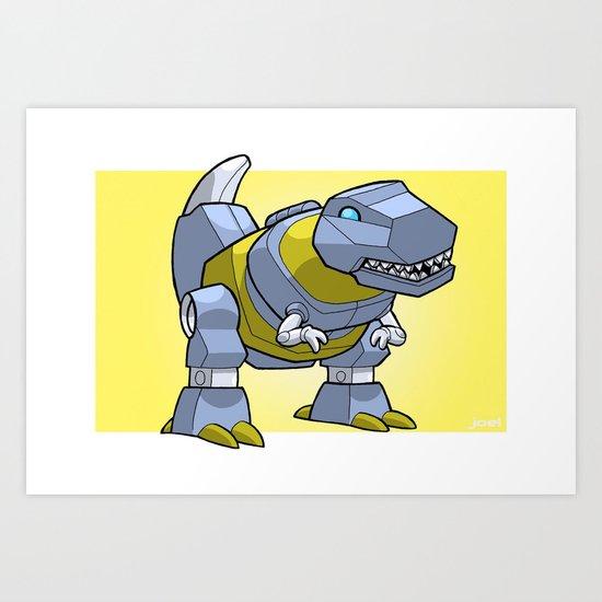 DinoBot Mini-Print Art Print