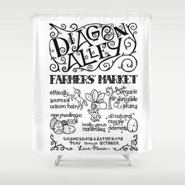 Diagon Alley Farmers' Market Shower Curtain