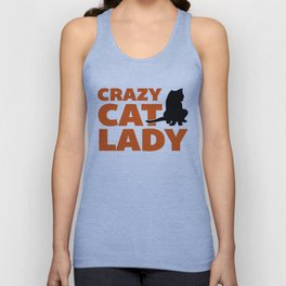 Crazy Cat Lady Funny Quote Unisex Tank Top