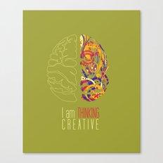 I am thinking Creative Canvas Print