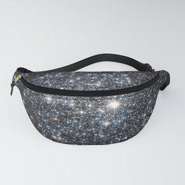Stars : subtle black blue gold Fanny Pack