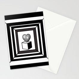 heart maze . Stationery Cards