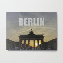BERLIN, Sunset at the Brandenburg Gate Metal Print