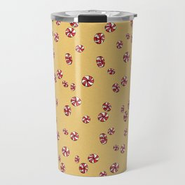 Peppermint Candy in Yellow Travel Mug