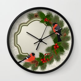 Christmas or New Year decoration Wall Clock
