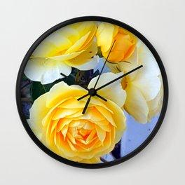 The perfect lemon rose Wall Clock