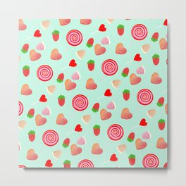 Candy pattern Metal Print